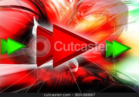 Digital Illustration of forward symbol in color background stock photo, Digital Illustration of forward symbol in color background by dileep
