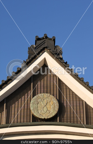 Japanese Rooftop stock photo, Rooftop of Japanese building in downtonw Los Angeles by Henrik Lehnerer