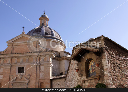 Chiesa Nuova stock photo, The Chiesa Nuova is a church in Assisi, Italy.  It is built on birthplace of St. Francis in 1615. by Chris Hill
