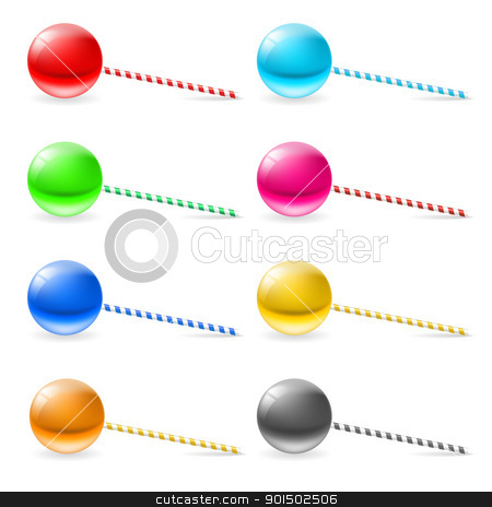 Lollipops stock photo, Set of lollipops. Illustration on white background for design by dvarg
