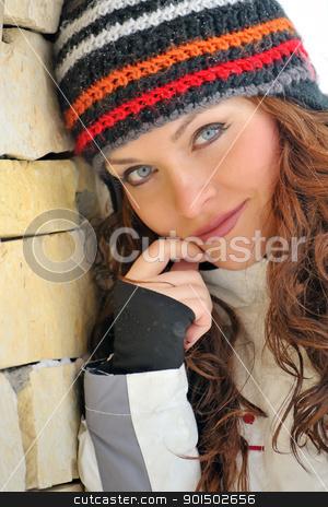 winter girl  stock photo, winter girl  by jordachelr