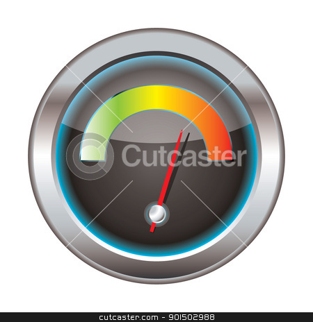 Download speedometer stock vector clipart, Internet or web download icon with bright dial for speed by Michael Travers