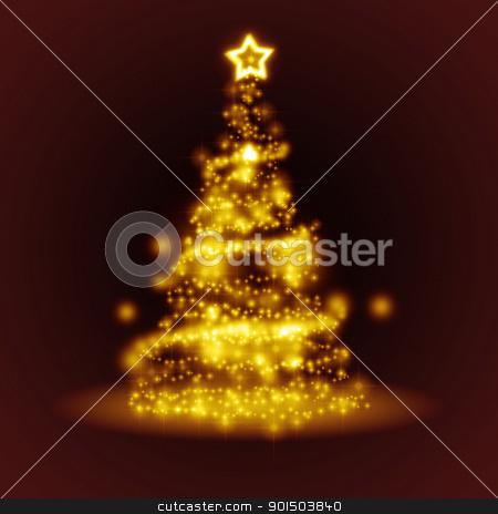 red christmas stock photo, An image of a nice christmas tree of light by Markus Gann
