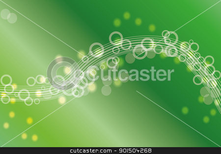 Green abstract background stock vector clipart, Abstract background with circles and green gradients by Artush