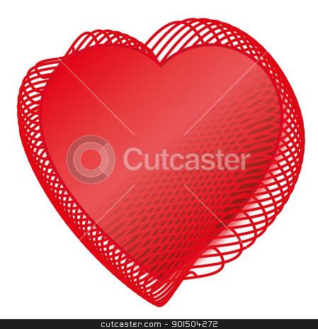 Valentine Red love heats  stock vector clipart, Two Red love heats symbol of Valentine day  by Artush
