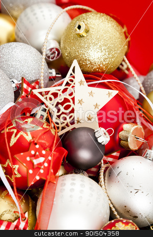 christmas background stock photo, An image of a nice red christmas background by Markus Gann