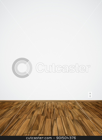 empty room stock photo, An image of an empty room with a socket by Markus Gann