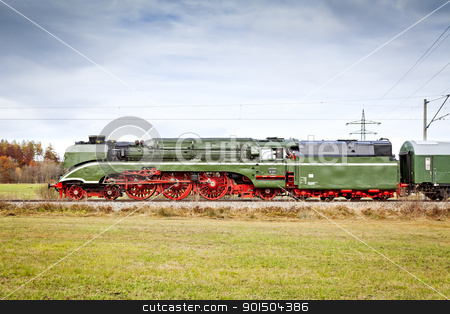 stream train stock photo, An image of the fastest steam train
