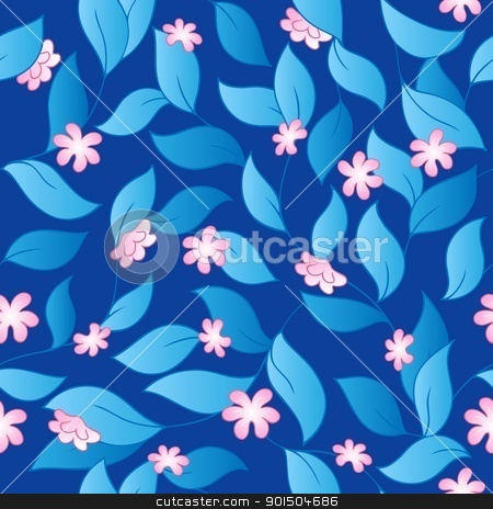 Flowery seamless background 3 stock vector clipart, Flowery seamless background 3 - vector illustration. by Klara Viskova