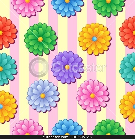 Flowery seamless background 5 stock vector clipart, Flowery seamless background 5 - vector illustration. by Klara Viskova