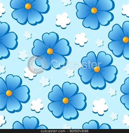 Flowery seamless background 7 stock vector clipart, Flowery seamless background 7 - vector illustration. by Klara Viskova