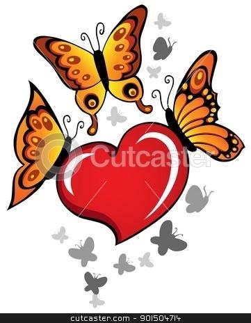 Heart theme image 6 stock vector clipart, Heart theme image 6 - vector illustration. by Klara Viskova