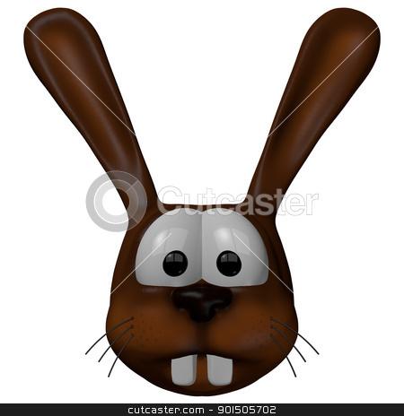 rabbit stock photo, cartoon rabbit - 3d illustration by J?