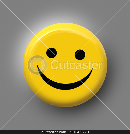 smile on yellow stock photo, An image of a nice smile on yellow background by Markus Gann
