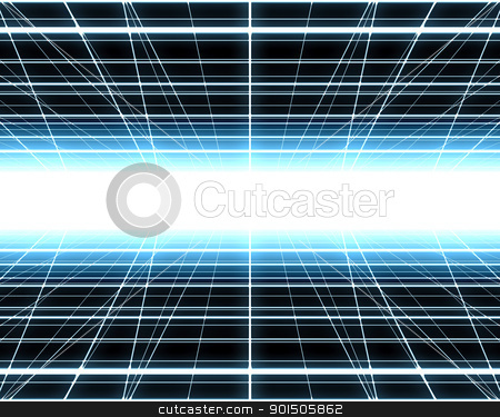 the grid stock photo, An image of a nice blue grid background by Markus Gann