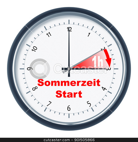 Sommerzeit Start stock photo, An image of a nice clock