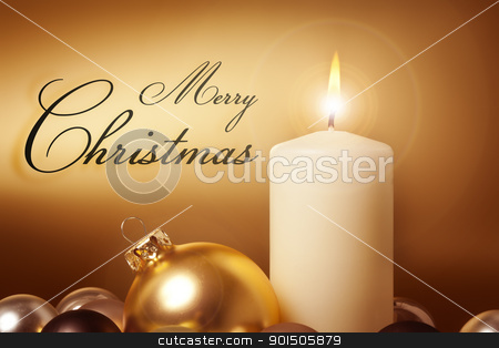 golden christmas card stock photo, An image of a nice golden christmas card by Markus Gann