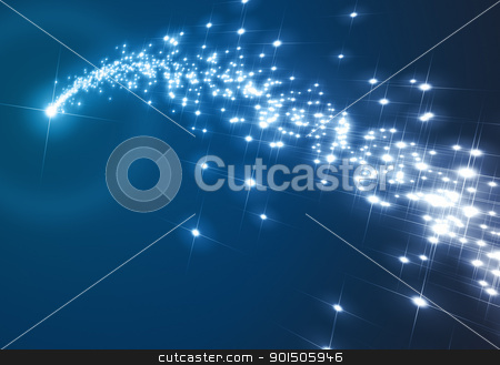 blue christmas star stock photo, An image of a nice blue christmas star background by Markus Gann