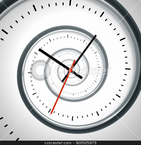 time spiral stock photo, An image of a nice time spiral clock by Markus Gann