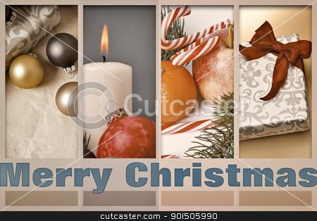 merry christmas stock photo, An image of a nice merry christmas postcard by Markus Gann