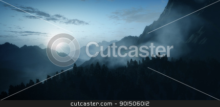 early morning mountain stock photo, An image of an early morning mountain sunrise by Markus Gann