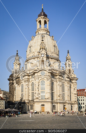 Frauenkirche Dresden stock photo, An image of the famous Frauenkirche in Dresden Germany by Markus Gann