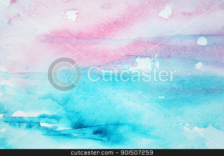 Abstract watercolor background on paper texture stock photo, Abstract watercolor background with colorful different layers on paper texture by Morozova Oxana
