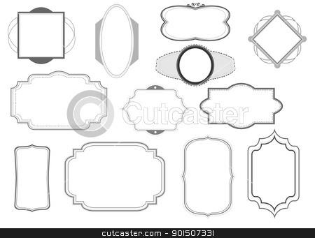 frames pack black and white stock vector