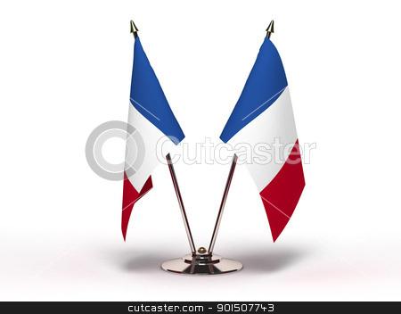 Miniature Flag of France stock photo, Miniature Flag of France by bosphorus