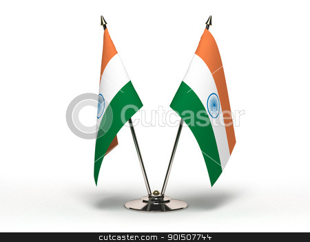 Miniature Flag of India stock photo, Miniature Flag of India by bosphorus