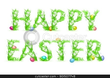 Greeting Card stock photo, Greeting Card. Happy Easter. Illustration on white background by dvarg