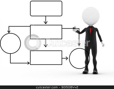 3d successful business man busy working  stock photo, 3d successful business man busy working  by dacasdo