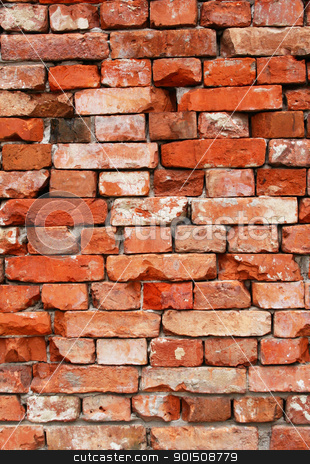 Wall from old bricks as background  stock photo, Wall from old bricks can use as background  by Morozova Oxana