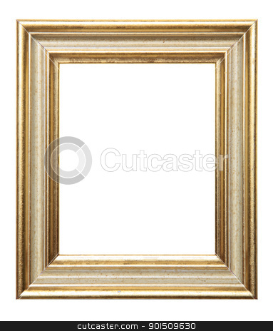Gold Frame stock photo, Old Picture Frame Isolated On White Background, Design Element by Adam Radosavljevic