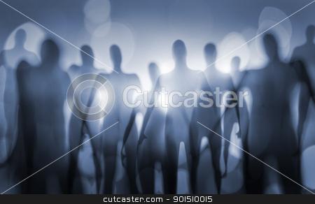 Beings stock photo, Blurry image of nightmarish alien beings. by Stocksnapper