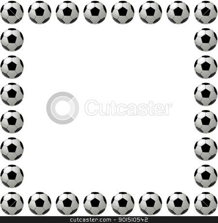 Square soccer ball or football frame stock photo