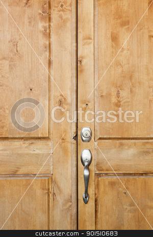 Front Door stock photo, Wooden front door of home in Phoenix, Arizona by Bryan Mullennix