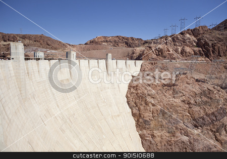 Hoover Dam stock photo, Hoover Dam an engineering landmark, Boulder City, Nevada by Bryan Mullennix
