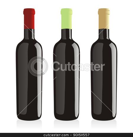 isolated wine bottles stock vector clipart, fully editable vector illustration of isolated wine bottles by pilgrim.artworks