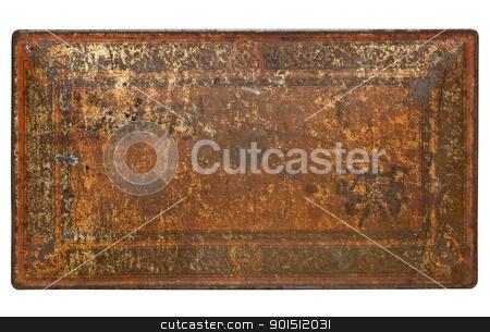rusty painted metal texture stock photo, rusty painted metal texture - isolated top of vintage box by Marek Uliasz