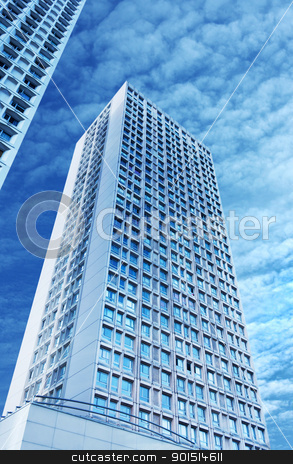 Towers stock photo, Towers on a background of blue sky by tristanbm