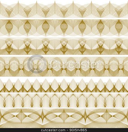 Edgings stock vector clipart, Set of editable vector decorative edges made using blends by Robert Adrian Hillman