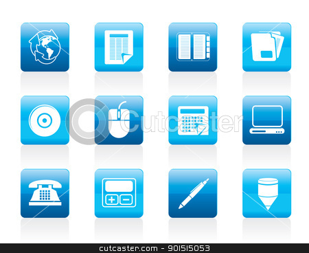 Business and Office tools icons  stock vector clipart, Business and Office tools icons  vector icon set 2 by Stoyan Haytov