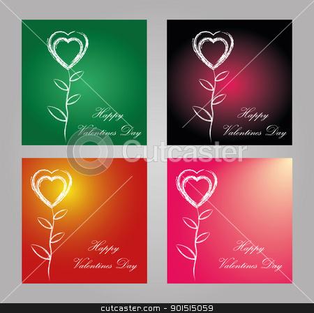 Happy valentines day postcard stock vector clipart, Happy valentines day postcard vector eps by Artush