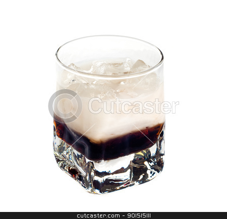 White Russian stock photo, White russian cocktail isolated on white background by borojoint