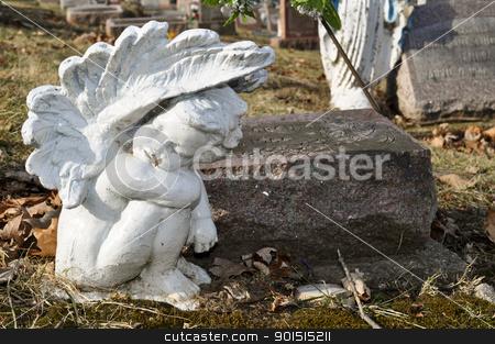 Grave Market Angel stock photo, Grave Market Angel by Liane Harrold