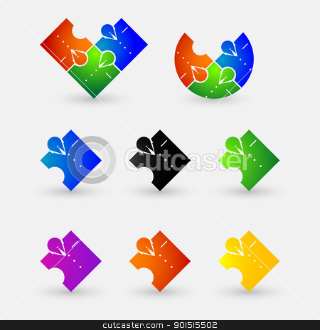 Business man icon set. stock vector clipart, Stylish abstract business man. Elements for design. Icon set. by Richard Laschon