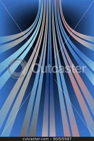 Bent lines stock vector clipart, Abstract editable vector design of bent lines using gradients by Robert Adrian Hillman