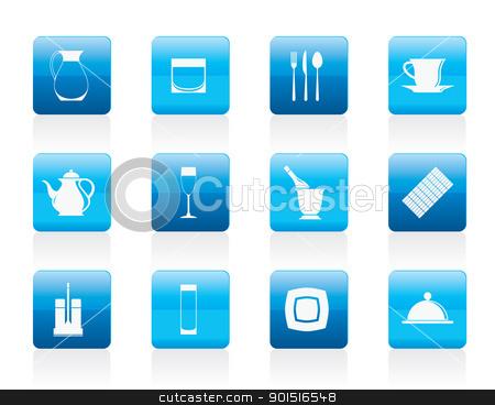 restaurant, cafe, bar and night club icons  stock vector clipart, restaurant, cafe, bar and night club icons - vector icon set by Stoyan Haytov