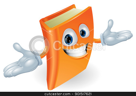 Book cartoon character mascot stock vector clipart, A smiling book cartoon illustration. Education, reading or teaching mascot by Christos Georghiou